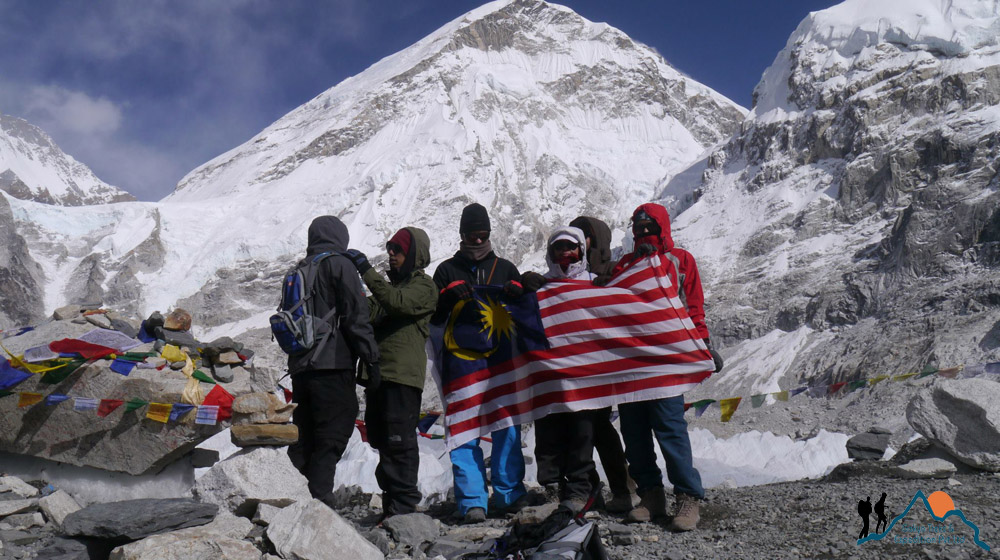 Everest base camp trek group