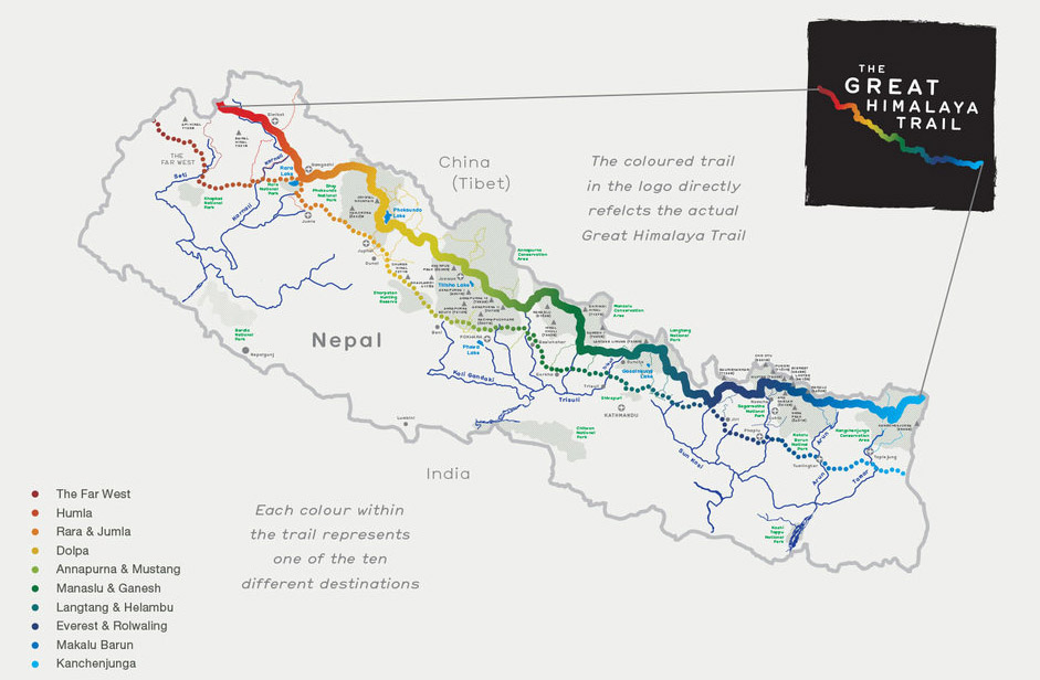 great himalayan trail map