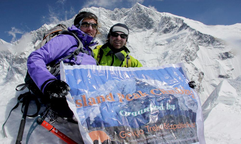 island peak climbing success story