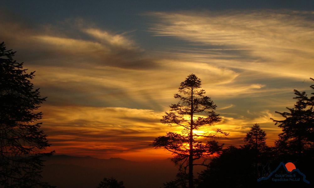 sunrise from Thadepati