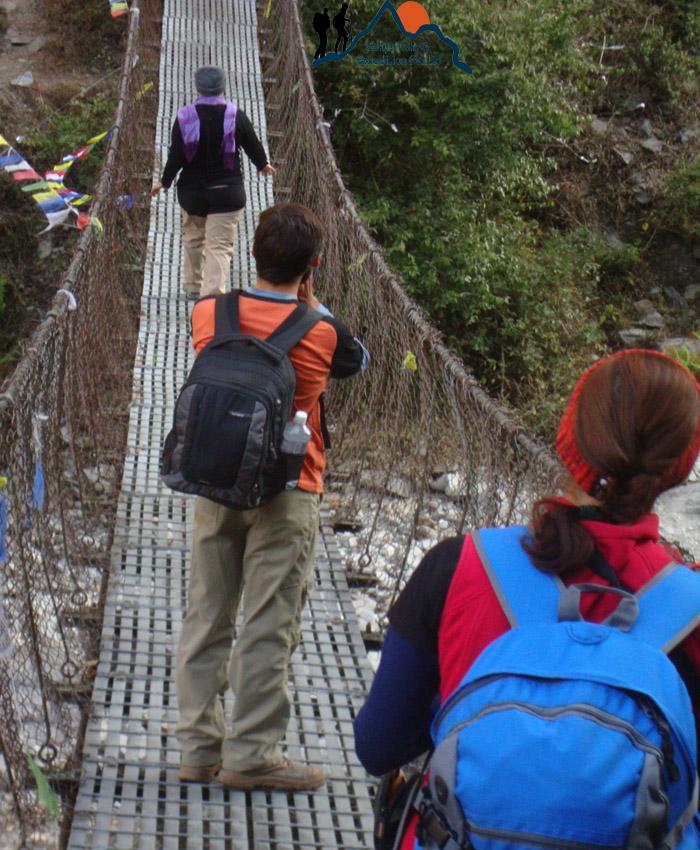 Langtang river bridge