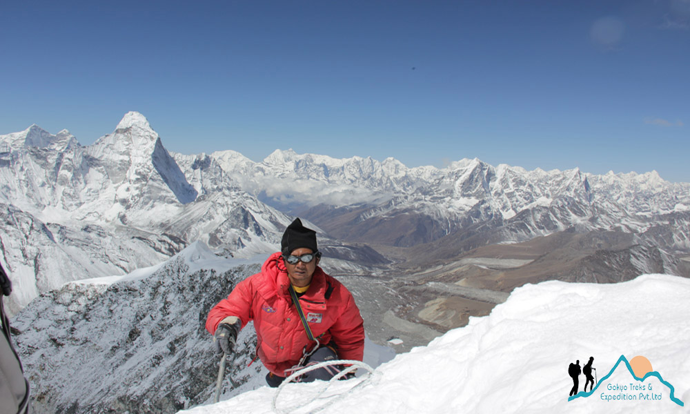 sherpa climbing guide in Nepal