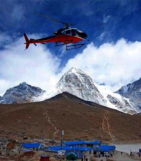 Everest base camp trek return with helicopter